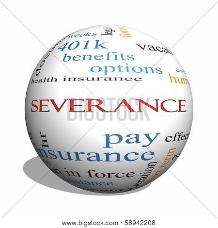 Severance 3D Sphere Word Cloud Concept