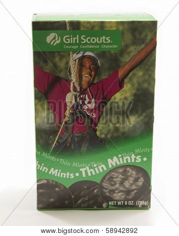 Box Of Girl Scout Thin Mint Cookies