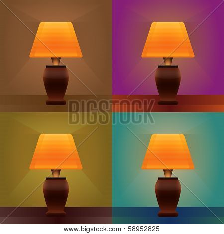 Table Lamp Light Brown Background