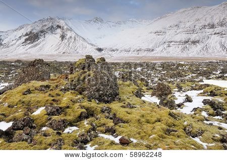 Icelandic landscape.