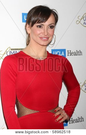 LOS ANGELES - JAN 22:  Karina Smirnoff at the UCLA Head and Neck Surgery Luminary Awards at Beverly Wilshire Hotel on January 22, 2014 in Beverly Hills, CA