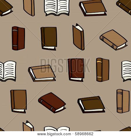 Cartoon Books Seamless Background