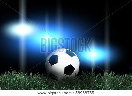 Football and spotlights