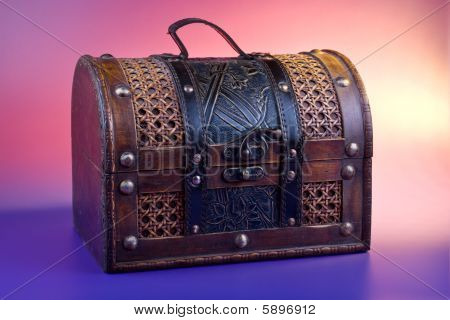Old Wooden Chest For Treasure