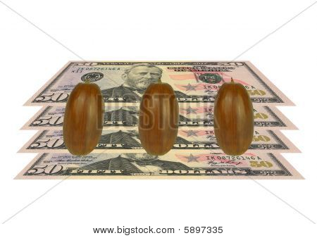 Acorns And $50-00 Notes