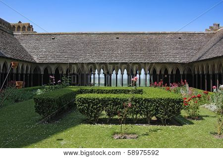 Cloister In The Abbey Of Mont Saint Michel