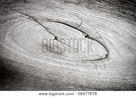 close up of a old knot in a pice of wood