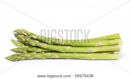 Heap Of Uncooked Green Asparagus