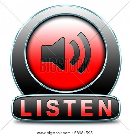 Listen live stream music song audio or radio button