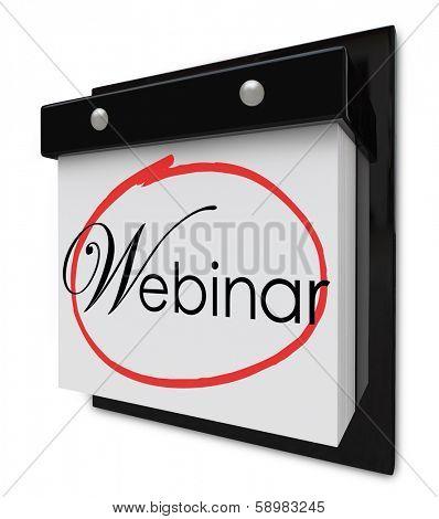 Webinar Word Calendar Date Online Seminar Learning Session