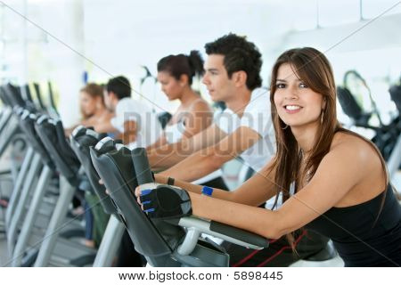 Gym People On Cardio Machines
