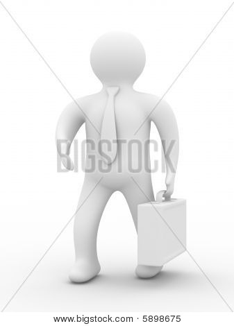 Handshake. Businessmen On White Background. Isolated 3D Image