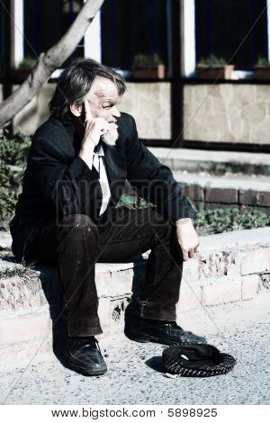 Homeless Elderly Beggar.