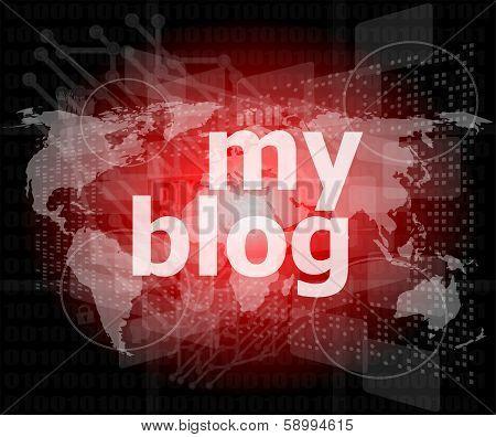 My Blog - Green Digital Background - Global Internet Concept