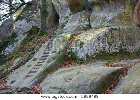 Stairs In A Rock