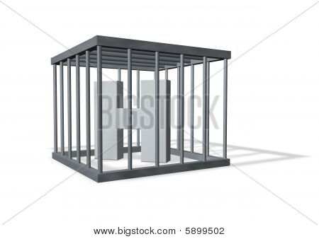 Big H In A Cage