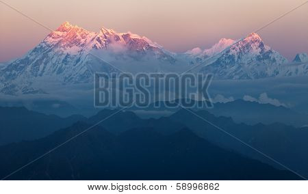 Evening View Of Mount Annapurna - Nepal