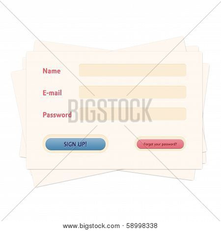 Login web form