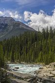 View of Mistaya Canyon in the Canadian Rocky Mountains, Banff National Park Alberta