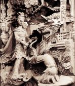 Temple Stong Carving - Give And Help