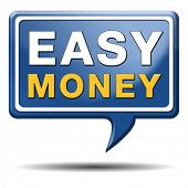 stock photo of money  - fast easy money quick extra cash make a fortune online income - JPG