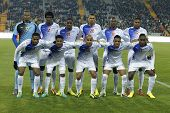 BARCELONA - DEC, 30: Cape Verdean National Team posing before the friendly match between Catalonia a