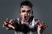 stock photo of zombie  - Aggressive - JPG