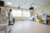 image of dialysis  - Dialysis machines in empty hospital room - JPG