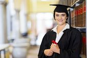 stock photo of laws-of-attraction  - attractive young university law school graduate portrait - JPG