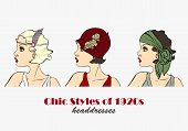 picture of headdress  - Chic Styles of Headdresses of 1920s - JPG