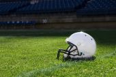 Football Helmet at the Stadium