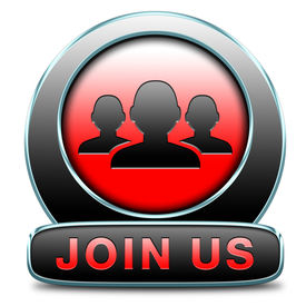 stock photo of joining  - Join us now and register today - JPG