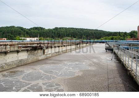 Treatment Plant Waste Water Aeration Basin Bubble