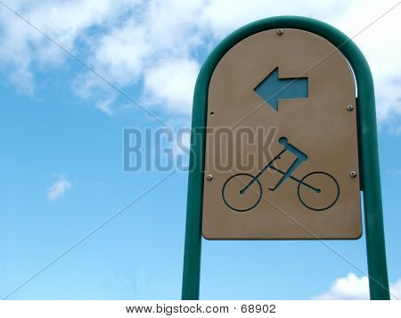 Bike Path Sign