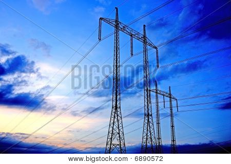 pylon of the electricity line