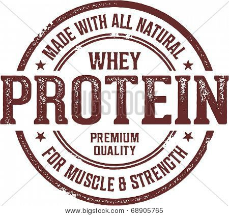 Made with Whey Protein Stamp