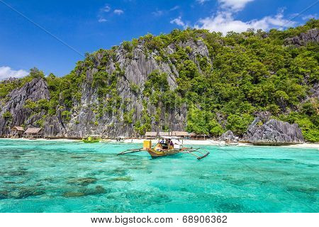 Beach in Coron Palawan Philippines