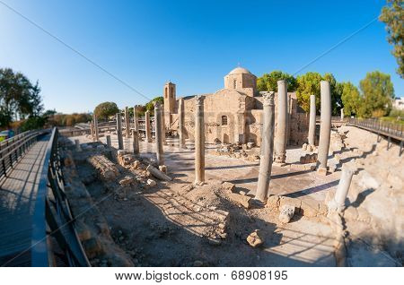 The Panagia Chrysopolitissa Church. Paphos, Cyprus