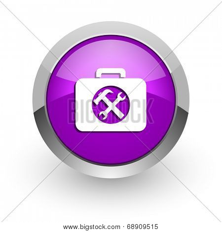 toolkit pink glossy web icon