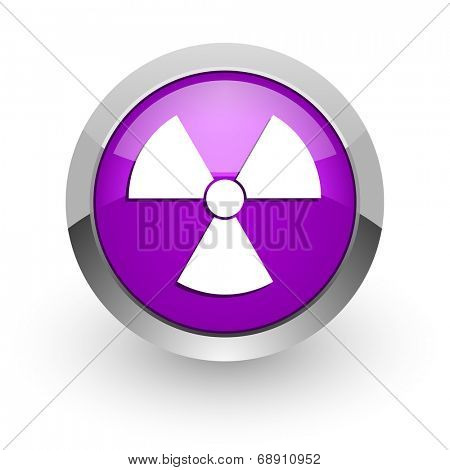 radiation pink glossy web icon