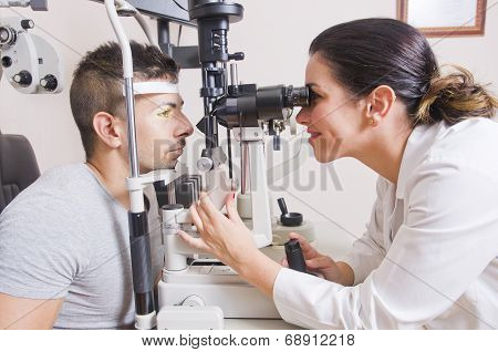 Optical Lab, Professional Woman