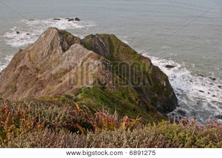 Craggy Rock on Pacific Ocean