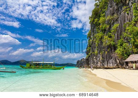 Beach in Palawan Philippines