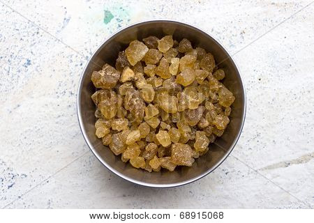 rock sugar made from date palm a specialitate in India and Persia
