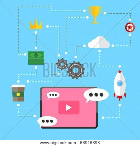 Video Marketing Strategy Relation Background