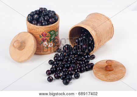 Sprinkled Currants On A White Background