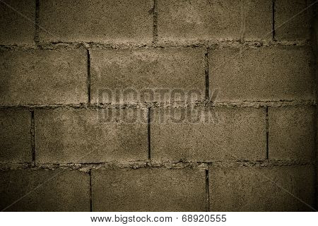 Cinder Block Wall Background And Texture