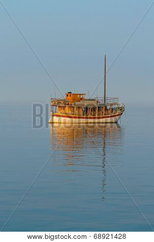 Lonely Traditional Sailboat