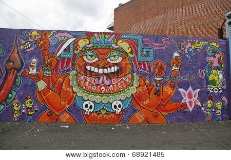 Mural in Astoria section in Queens