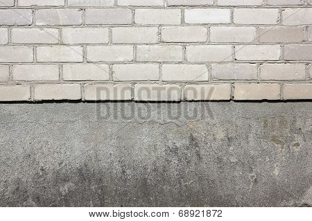 White Silicate Bricks And Plaste